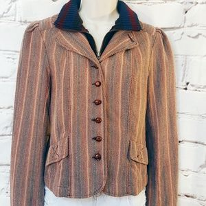 Urban Outfitters Striped Wool Jacket Sz Medium
